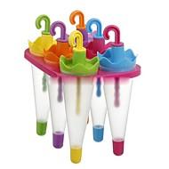 お買い得  キッチン用小物-6細胞カラフルな傘アイスクリームアイスクリームメーカートレイキューブ金型金型