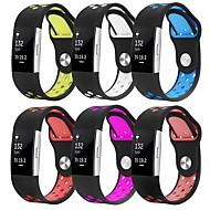 baratos Acessórios para Smartwatch-Pulseiras de Relógio para Fitbit Charge 2 Fitbit Pulseira Esportiva Silicone Tira de Pulso