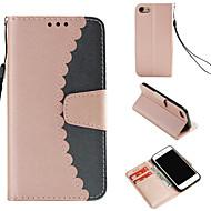 Funda Para Apple iPhone 8 / iPhone 7 Cartera / Soporte de Coche / con Soporte Funda de Cuerpo Entero Un Color Dura Cuero de PU para iPhone 8 / iPhone 7