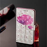 お買い得  携帯電話ケース-ケース 用途 Xiaomi Mi 8 / Mi 6X ウォレット / カードホルダー フルボディーケース フラワー ハード PUレザー のために Xiaomi Redmi Note 5 Pro / Xiaomi Mi Mix 2S / Xiaomi Mi 8