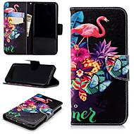Недорогие Чехлы и кейсы для Galaxy S8 Plus-Кейс для Назначение SSamsung Galaxy S9 Plus / S9 Кошелек / Бумажник для карт / со стендом Чехол Фламинго Твердый Кожа PU для S9 / S9 Plus