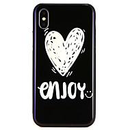 Недорогие Кейсы для iPhone 8-Кейс для Назначение Apple iPhone X / iPhone 8 С узором Кейс на заднюю панель Слова / выражения / С сердцем Твердый Закаленное стекло для iPhone X / iPhone 8 Pluss / iPhone 8