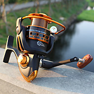 お買い得  釣り用アクセサリー-リール スピニングリール 5.2:1 ギア比+12 ボールベアリング 手の向き 交換可能 海釣り / ベイトキャスティング