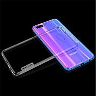 お買い得  携帯電話ケース-ケース 用途 Huawei Honor 10 超薄型 / クリア バックカバー ソリッド ソフト TPU のために Huawei Honor 10