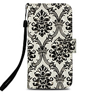 cheap -Case For Apple iPhone X / iPhone 8 Card Holder / with Stand / Flip Full Body Cases Lace Printing Hard PU Leather for iPhone X / iPhone 8 Plus / iPhone 8