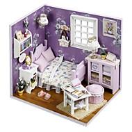 abordables Muñecas y Peluches-Casa de Muñecas con luz LED Romántico 1 pcs Piezas Adolescente Regalo
