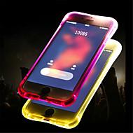 Недорогие Кейсы для iPhone 8-Кейс для Назначение Apple iPhone 8 / iPhone 8 Plus Мигающая LED подсветка / Полупрозрачный Кейс на заднюю панель Однотонный Мягкий ТПУ для