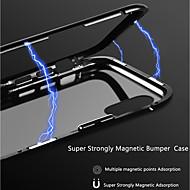 Недорогие Кейсы для iPhone 8 Plus-Кейс для Назначение Apple iPhone X / iPhone 8 Прозрачный / Магнитный Кейс на заднюю панель Однотонный Твердый Алюминий для iPhone X / iPhone 8 Pluss / iPhone 8