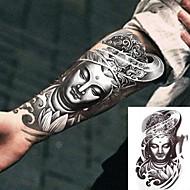 billiga Temporära tatueringar-3 pcs Tatueringsklistermärken tillfälliga tatueringar Totemserier Body art arm