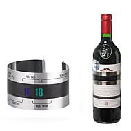 abordables Abridores y Accesorios de Bar-Botella de vino de acero inoxidable termal banda termómetro brazalete estilo barra