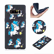 Недорогие Чехлы и кейсы для Galaxy Note-Кейс для Назначение SSamsung Galaxy Note 8 С узором Кейс на заднюю панель единорогом Мягкий ТПУ для Note 8