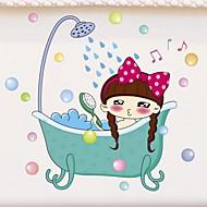お買い得  インテリア用品-ウォールステッカー 防水 / カートゥン / 愛らしいです 普通 / カトゥーン / コンテンポラリー PVC 1個 バスルームの装飾