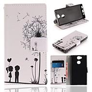 preiswerte Handyhüllen-Hülle Für Sony Xperia XA2 Geldbeutel / Kreditkartenfächer / mit Halterung Ganzkörper-Gehäuse Löwenzahn Hart PU-Leder für Xperia XA2