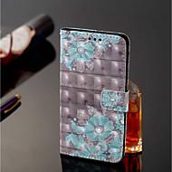 preiswerte Handyhüllen-Hülle Für Nokia Nokia 7 Plus / Nokia 6 2018 Geldbeutel / Kreditkartenfächer / mit Halterung Ganzkörper-Gehäuse Blume Hart PU-Leder für