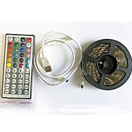 cheap -2m Flexible LED Light Strips / RGB Strip Lights / Remote Controls 60 LEDs 1 44Keys Remote Controller RGB+White Cuttable / USB / Waterproof