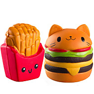 お買い得  -LT.Squishies スクイーズおもちゃ / ストレス解消グッズ 食べ物 ストレスや不安の救済 / 減圧玩具 ポリウレタン 2 pcs 子供用 フリーサイズ ギフト
