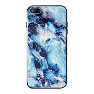 Недорогие Кейсы для iPhone 8 Plus-Кейс для Назначение Apple iPhone X / iPhone 8 Plus Зеркальная поверхность / С узором Кейс на заднюю панель Мрамор Твердый ТПУ / Закаленное стекло для iPhone X / iPhone 8 Pluss / iPhone 8