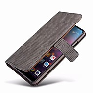 preiswerte Handyhüllen-Hülle Für Huawei P20 / P20 Pro Geldbeutel / Kreditkartenfächer / mit Halterung Ganzkörper-Gehäuse Solide Hart Echtleder für Huawei P20 / Huawei P20 Pro / Huawei P20 lite