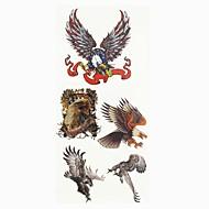 abordables Tatuajes Temporales-1 pcs Tatuajes Adhesivos Los tatuajes temporales Series de Animal Artes de cuerpo manos / brazo / muñeca
