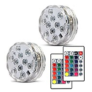 cheap -2pcs 5 W Underwater Lights New Design / Remote Controlled / Dimmable RGB 4.5 V Suitable for Vases & Aquariums