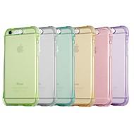 Недорогие Кейсы для iPhone 8-Кейс для Назначение Apple iPhone X / iPhone 8 Защита от удара / Мигающая LED подсветка Кейс на заднюю панель Однотонный Мягкий ТПУ для iPhone X / iPhone 8 Pluss / iPhone 8
