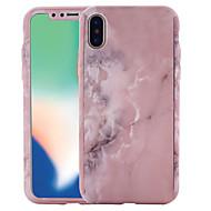 Недорогие Кейсы для iPhone 8 Plus-Кейс для Назначение Apple iPhone X / iPhone 8 С узором Чехол Мрамор Твердый ПК для iPhone X / iPhone 8 Pluss / iPhone 8