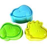 お買い得  キッチン用小物-ベークツール プラスチック キュート / DIY クッキー / ライスのため / キャンディのための ケーキ型 / デザートツール 3本