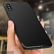 Недорогие Кейсы для iPhone 8 Plus-Кейс для Назначение Apple iPhone X / iPhone 8 Plus Рельефный Кейс на заднюю панель Однотонный Мягкий ТПУ для iPhone X / iPhone 8 Pluss /