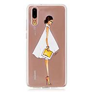 preiswerte Handyhüllen-Hülle Für Huawei P20 / P20 lite Durchscheinend Rückseite Sexy Lady Weich TPU für Huawei P20 / Huawei P20 Pro / Huawei P20 lite