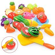 preiswerte Spielzeuge & Spiele-Tue so als ob du spielst Lebensmittel Frucht Eltern-Kind-Interaktion Plastikschale Vorschule Jungen Mädchen Spielzeuge Geschenk 18 pcs