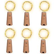 6ks 15-vedl 0.75 m měděný drát řetězec světlo s láhev zátkou pro sklo řemesla láhev víla valentinky svatební dekorace lampa strana