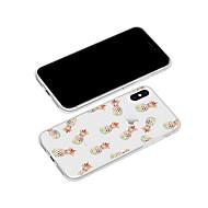 Недорогие Кейсы для iPhone 8-Кейс для Назначение Apple iPhone X / iPhone 8 Plus С узором Кейс на заднюю панель Мультипликация / Фрукты Мягкий ТПУ для iPhone X / iPhone 8 Pluss / iPhone 8