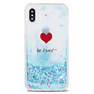 Case For Apple iPhone X / iPhone 8 Plus Flowing Liquid / Pattern Back Cover Word / Phrase / Heart / Cartoon Hard PC for iPhone X / iPhone 8 Plus / iPhone 8