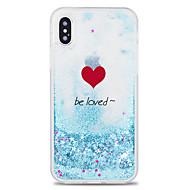 Недорогие Кейсы для iPhone 8 Plus-Кейс для Назначение Apple iPhone X / iPhone 8 Plus Движущаяся жидкость / С узором Кейс на заднюю панель Слова / выражения / С сердцем / Мультипликация Твердый ПК для iPhone X / iPhone 8 Pluss