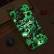 Недорогие Чехлы и кейсы для Galaxy J3-Кейс для Назначение SSamsung Galaxy iPhone X / iPhone 8 Plus / J6 Сияние в темноте / IMD / С узором Кейс на заднюю панель Плитка Мягкий ТПУ для J8 / J7 (2017) / J7 (2016)