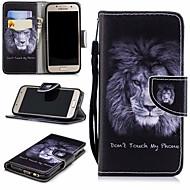 Недорогие Чехлы и кейсы для Galaxy A3(2017)-Кейс для Назначение SSamsung Galaxy A3(2017) Кошелек / Бумажник для карт / со стендом Чехол Лев Твердый Кожа PU для A3 (2017)