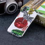 Недорогие Кейсы для iPhone 8 Plus-Кейс для Назначение Apple iPhone X / iPhone 8 Plus IMD / С узором Кейс на заднюю панель Животное Мягкий ТПУ для iPhone X / iPhone 8 Pluss / iPhone 8