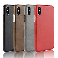 Etui Til Apple iPhone X / iPhone 8 Syrematteret Bagcover Ensfarvet Hårdt PU Læder for iPhone X / iPhone 8 Plus / iPhone 8