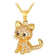 ieftine -Pentru femei Coliere cu Pandativ Lung pava Pisici femei Modă Articole de ceramică Auriu Argintiu 55 cm Coliere Bijuterii 1 buc Pentru Cadou Zilnic