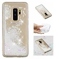 Недорогие Чехлы и кейсы для Galaxy S-Кейс для Назначение SSamsung Galaxy S9 Plus / S9 Движущаяся жидкость / С узором / Сияние и блеск Кейс на заднюю панель Сияние и блеск / одуванчик Мягкий ТПУ для S9 / S9 Plus / S8 Plus