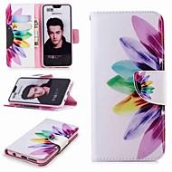 preiswerte Handyhüllen-Hülle Für Huawei Honor 10 / Honor 7A Geldbeutel / Kreditkartenfächer / mit Halterung Ganzkörper-Gehäuse Blume Hart PU-Leder für Honor 8 / Honor 7X / Honor 7C(Enjoy 8)