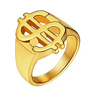 お買い得  -男性用 指輪  -  ステンレス鋼 クラシック 7 / 8 / 9 / 10 / 11 ゴールド / ブラック / シルバー 用途 贈り物 日常