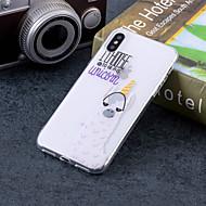 Недорогие Кейсы для iPhone 8 Plus-Кейс для Назначение Apple iPhone X / iPhone 8 Plus IMD / С узором Кейс на заднюю панель Слова / выражения / Животное Мягкий ТПУ для iPhone X / iPhone 8 Pluss / iPhone 8