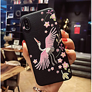 Недорогие Кейсы для iPhone 8 Plus-Кейс для Назначение Apple iPhone X / iPhone 8 С узором Кейс на заднюю панель Фламинго Мягкий ТПУ для iPhone X / iPhone 8 Pluss / iPhone 8
