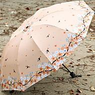 Недорогие Защита от дождя-пластик / Нержавеющая сталь Все / Девочки Новый дизайн / Творчество Складные зонты