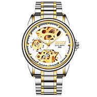 お買い得  -BOSCK 機械式時計 エミッタ 耐水, 透かし加工, 夜光計 ブラック / ブルー / ゴールド / 自動巻き