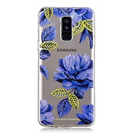 Недорогие Чехлы и кейсы для Galaxy A3(2017)-Кейс для Назначение SSamsung Galaxy A6+ (2018) / A6 (2018) Прозрачный / С узором Кейс на заднюю панель Цветы Мягкий ТПУ для A6 (2018) / A6+ (2018) / A3 (2017)