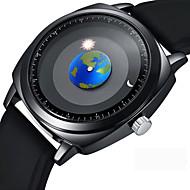 hesapli Mücevher&Saatler-Erkek Elbise Saat Bilek Saati Japonca Quartz Siyah 50 m Yaratıcı Havalı Analog Günlük Moda - Siyah Bir yıl Pil Ömrü / Paslanmaz Çelik