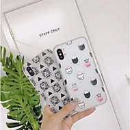 cheap -Case For Apple iPhone X / iPhone 6 Pattern Back Cover Tile Soft TPU for iPhone X / iPhone 8 Plus / iPhone 8