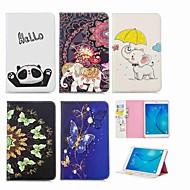 Недорогие Чехлы и кейсы для Samsung Tab-Кейс для Назначение SSamsung Galaxy Tab A 9.7 Кошелек / Бумажник для карт / со стендом Чехол Слон Твердый Кожа PU для Tab A 9.7